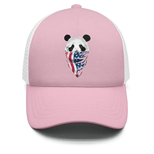 Price comparison product image Zpnew Panda face and American Flag Stylish Casual Sun Protection Adjustable Baseball Mesh Hat Cap for Boy and Girls