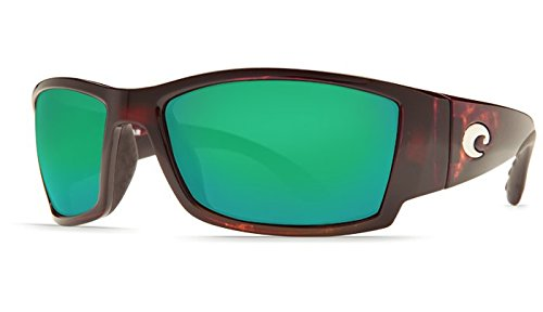 New Costa Del Mar Corbina 580G Tortoise/Green Mirror Polarized Lens 60mm - Costa 580g Mar Corbina Del