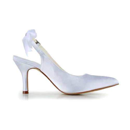 Jia Jia Wedding A3124 chaussures de mariée mariage Escarpins pour femme Blanc mEjZ6