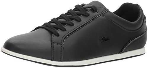 Flat Shoes Lacoste Womens (Lacoste Women's Rey Lace 417 1 Sneaker, Black, 10 M US)