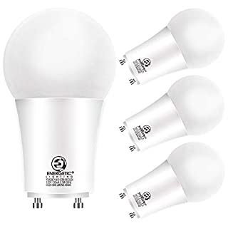 LED 2 Prong Light Bulbs 8.5 Watt GU24, 60 Watt Equivalent, 4000K Cool White, 800 Lumens, Non-Dimmable, UL Listed, 4 Pack