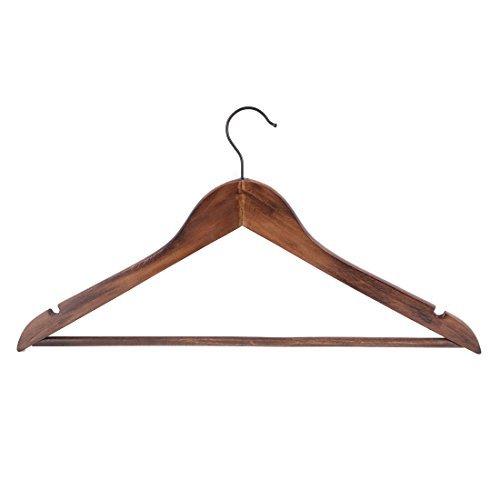 eDealMax Lavabo Armario de capa de Madera ropa de la toalla estante de secado gancho de la suspensión Titular del Color del café