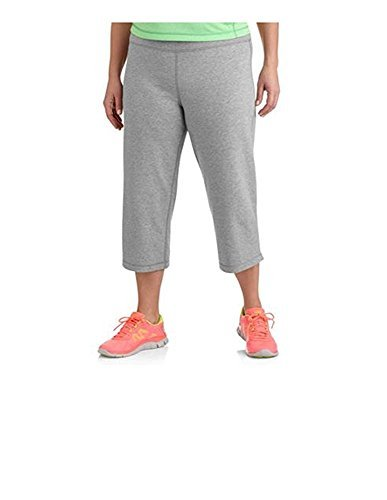 Danskin Now Womens Plus Size Dri-More Core Capri Pants Activewear Casual Wear by (1x, Gray) (Capris Danskin)