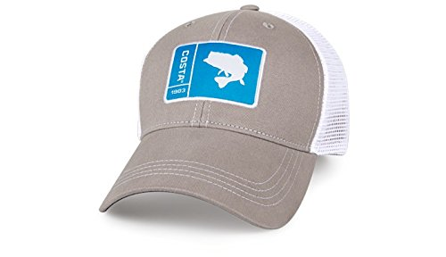 Costa Del Mar Original Patch Bass Trucker Hat-Grey