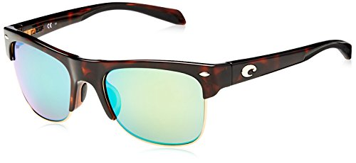 Costa del Mar Pawleys Polarized Iridium Oval Sunglasses, Retro Tortoise, 56.2 mm