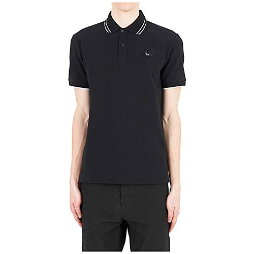 McQ Alexander McQueen Men Polo t-Shirt Swallow Nero XS
