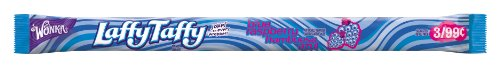 Wonka Laffy Taffy Rope, Wild Blue Raspberry, 0.81-Ounce Packages (Pack of 96) ()