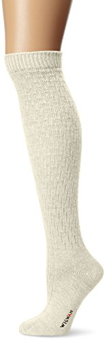 Wigwam Women's Lilly Knee High Classic Merino Wool Lightweight Boot Socks, Natural, Medium