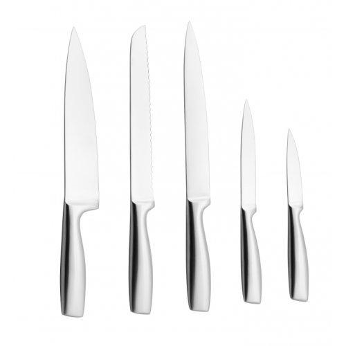 Juego de 5 cuchillos y soporte/bloque blanco - Coninx Tila - set de cuchillos en acero inoxidable - juegos/organizador de cocina - 2 años de garantía