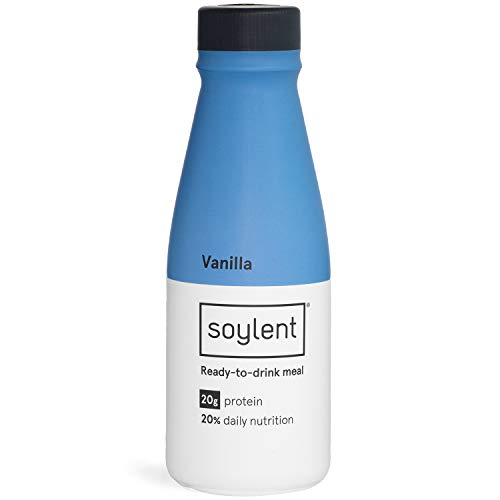 Soylent Meal Replacement Shake, Vanilla, 14 Oz Bottles, 12 Pack]()