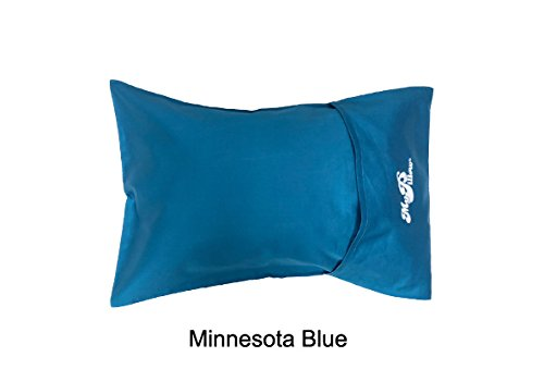 MyPillow Roll N Go Travel Pillow Rolls Into It's Own Pillow Case, Included (MN Blue)