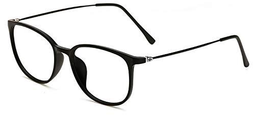 Hykis Eyewear pour Lunettes Jambe Transparents Grau Lunettes Unisexe Verres Oculos nbsp;Carré pour Mince nbsp;– rétro Cadre Black Sand de Lunettes Homme Femme rétro xEwPrE