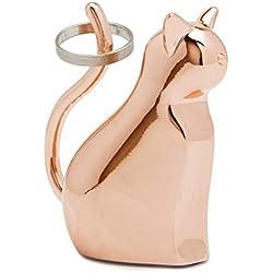 Umbra 1004287-880 Anigram Cat Ring Holder for Jewelry, Copper