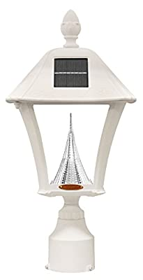 GAMA Sonic GS-106 Baytown Collection, Outdoor Solar LED Light Fixtures, with or Without Posts