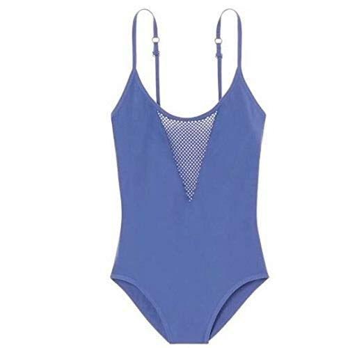Victoria's Secret Pink Mesh Seamless Tank Bodysuit Iris Pale Blue Medium NWT