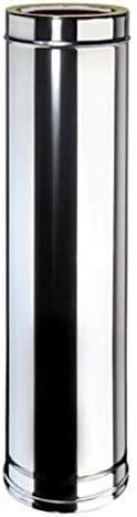 Kit canna fumaria per stufa a pellet diametro 100 mm da esterno