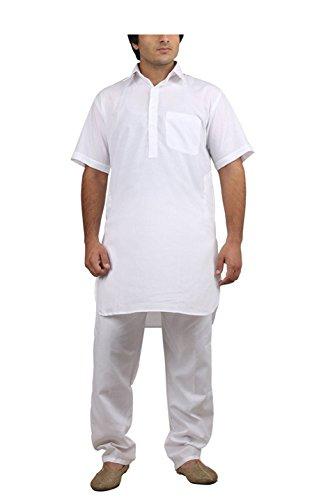 Royal Kurta Big Boy's Cotton Blended Fine Pathani Kurta Pyjama 42 White by Royal Kurta (Image #4)