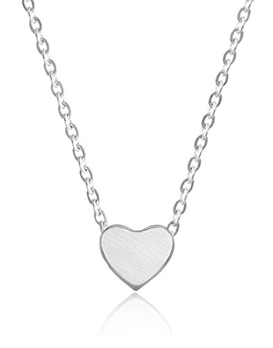 Altitude Boutique Heart Necklace for Women Choker Necklace to Long Necklace Friendship Necklace Dainty Necklace Womens Necklace Chain Necklace Best Friend Necklaces Silver Necklace Dainty Choker silv