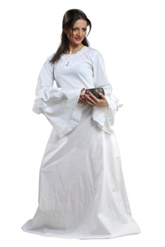 [Armor Venue - Anne of Cleves Chemise - Renaissance Clothing Costume - White XX-Large] (Anne Of Cleves Costume)