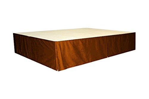 ROYAL Fascination Classy Royal 100% Cotton Velvet Bedskirt/Valance , colour-BRONZE, size-Queen-18''drop Bronze Bedskirt