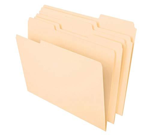 Office Depot Brand Heavyweight Manila File Folders, 1/3 Cut, Letter Size, Manila, Pack of 50