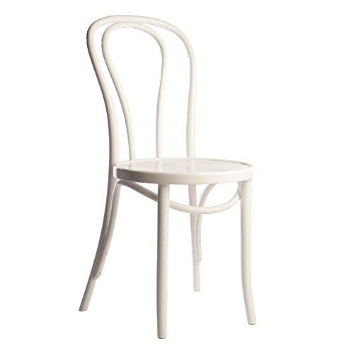 European Bentwood Wood Dining Chairs White 2-Pack