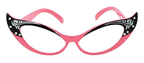 [Morris Costumes Glasses Vintage Cat Eyes Pink/clear] (Sock Hop Costume Ideas For Men)