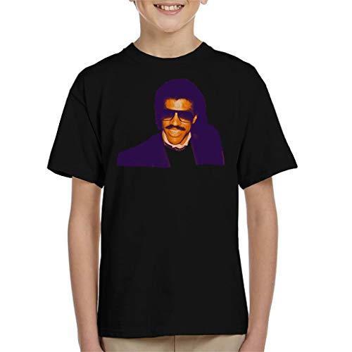 TV Times Pop Singer Lionel Richie 1985 Kid's T-Shirt Black