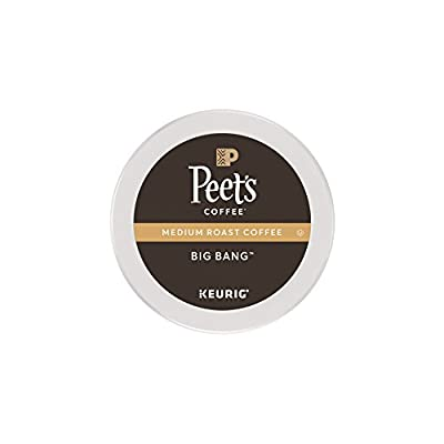 Peet's Coffee, Big Bang, Medium Roast, K-Cup, Single Cup Coffee Pods, Brilliant, Bright Blend of Ethiopian Super Natural, Medium Bodied & Fruity; for All Keurig K-Cup Brewers