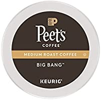Peet's Coffee, Big Bang, Medium Roast, K-Cup Pack (16 ct.), Single Cup Coffee Pods, Brilliant, Bright Blend of Ethiopian Super Natural, Medium Bodied & Fruity; for All Keurig K-Cup Brewers