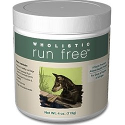 Wholistic Pet Organics Wholistic Run Free Dog Supplement (4 oz. container)