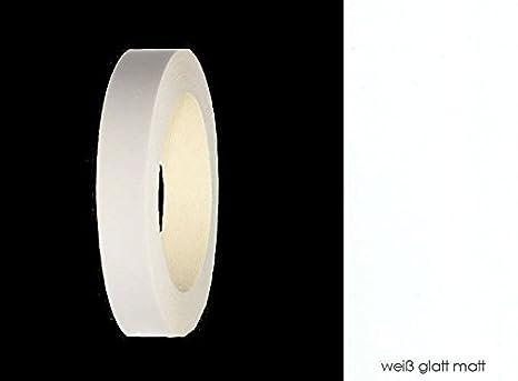 EisenRon - Cinta de melamina para rebordes con adhesivo termofusible 17 mm, 50 m, color blanco mate