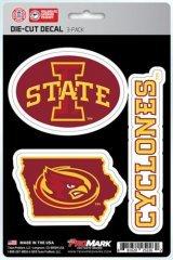 NCAA Iowa State Cyclones Team Decal, 3-Pack ()