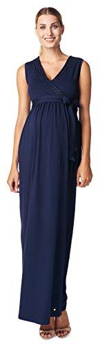 ESPRIT Maternity Damen Umstandskleid D84289, Maxi, Einfarbig, Gr. 40 (Herstellergröße: L), Blau (Royal Navy 488)