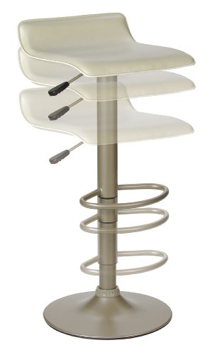 Single Airlift Swivel Stool with Beige PVC Seat (Single Winsome Air)