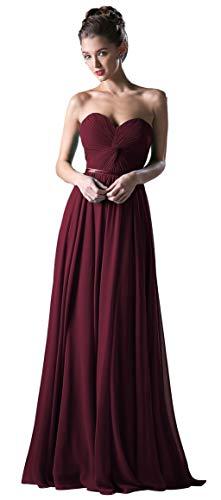 (Meier Women's Strapless Sweetheart Pleated Evening Prom Dress (20, Burgundy))