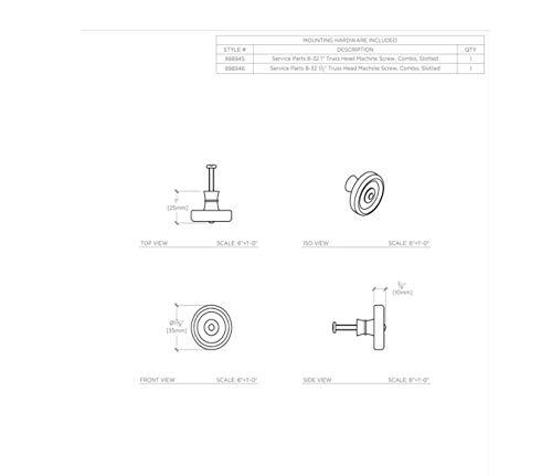 Waterworks Enfield 1 1/4'' Knob in Nickel by Water Works (Image #3)