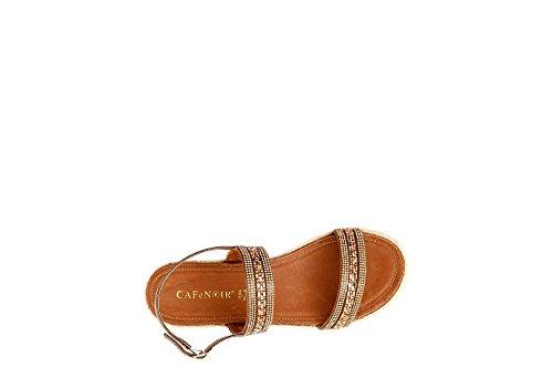 Cafè Noir KHF923 Strass Sandals Double Band 010 Nero UlCRNsKRo