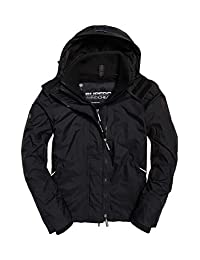 Superdry Men's Arctic Pop Zip Windcheater Jacket, Black