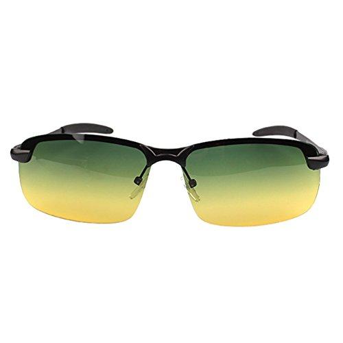 Hommes Soleil Cadre Lunettes Métal Femmes Cadre Noir LINNUO Vert Jaune Polarisées Lentille Aviateur UV Protection Sunglasses de Eyewear xtaqCCPwEn