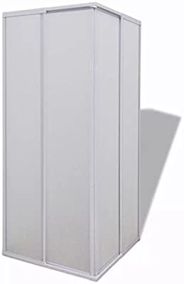 vidaXL Cabina de Ducha Pantalla de PP Marco de Aluminio ...