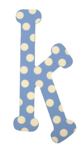 - My Baby Sam Polka Dot Letter k, Blue/White