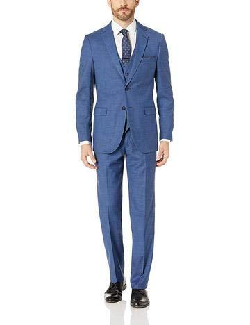 SIMPLY DAPPER Men's Modern Fit Stretch Suit US 42R/34 (Un-Hemmed) Blue
