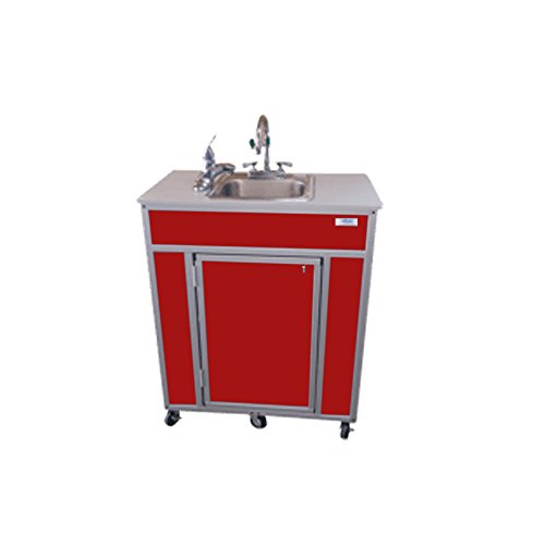 Monsam PSE-2001E Portable Eye and Face Washing Station, Red by Monsam Enterprises
