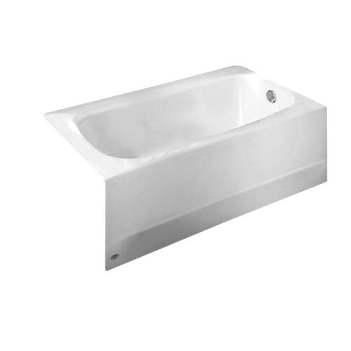 American Standard 2461.002.011 Cambridge Soaking Bathtub Right Hand Outlet, 5-Feet, Arctic (Apron Standard American Recessed)