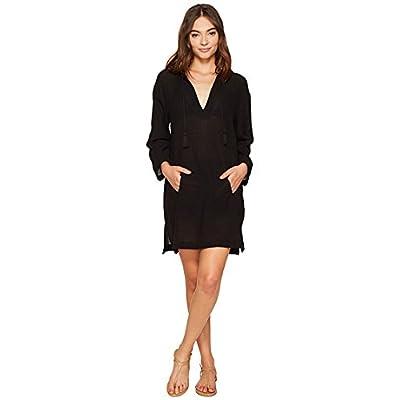(ビタミンエースイムウェア)Vitamin A Swimear レディース水着・カバーアップ・オーバーウェア Hooded Crinkle Twill Cover-Up Black SM S [並行輸入品]