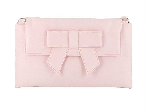 LONI - Cartera de mano para mujer gris Very Pale Grey large rosa pastel