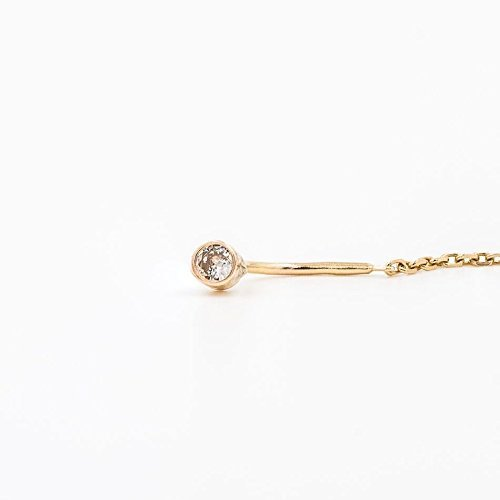 Amazon 14k Gold Diamond Threader Earrings Handmade