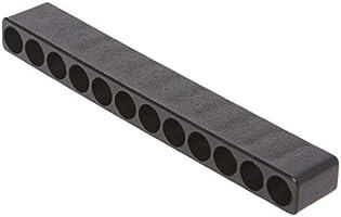 Agujero para destornillador 10//12 agujeros, Hex, soporte para puntas de pl/ástico, organizador de cabeza, caja de herramientas de jard/ín JENOR