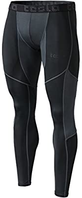Tesla Men's Compression 3/4 Capri Shorts Baselayer Cool Dry Sports Tights MUC18/MUC08/P15